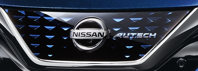 Nissan Emblem on Vehicle