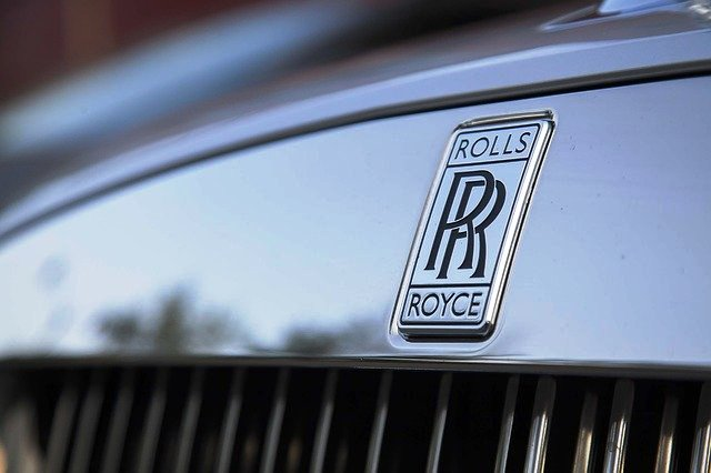 Rolls-Royce Badge on car