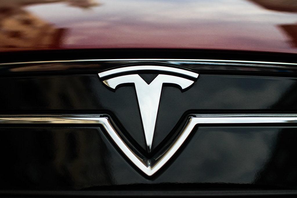 Tesla Emblem on hood